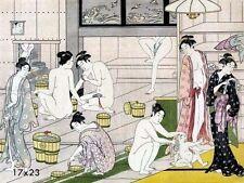 Bathroom Decorations Asian Home Decor Oriental Bath Art 16x23 repro Poster Print