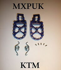 KTM250SX 2016 FOOTPEGS MXPUK EXTRA WIDE FOOT PEGS KTM BLUE 2015 250SX (569)