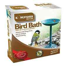 TRADITIONAL BIRD BATH Kingfisher Plastic Resin Low Maint | FREE Fast Delivery!