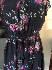 F&F Black Floral Dress UK 14