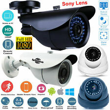 2.4MP CCTV Camera Dome Bullet 1080p Full HD IR Red LEDs AHD OUTDOOR Night Vision