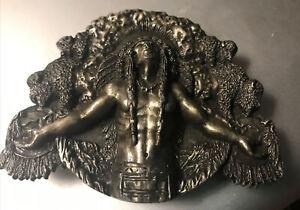 Siskiyou Limited Edition #801 Brass Indian Chief Belt Buckle 3D 1981