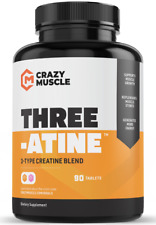 Crazy Muscle® Creatine Monohydrate Pills: [PROVEN] Muscle Building Supplement ✅✅
