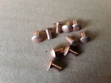 "5//32/"" 25.4mm dia copper rivets 1/"" 4mm Long pack of 10 Round Head"