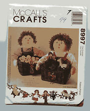 MCCALL'S 8997 RAGGEDY ANN & ANDY CHRISTMAS  BASKETS STOCKINGS ORNAMENTS
