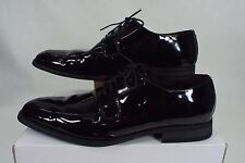 Mens 14 D VIA SPIGA Studio Laconi Black Leather Wedding Shoes $200