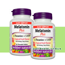 2 x Webber Naturals  Melatonin Plus with L-Theanine and 5-HTP, 40 Chew Tablets