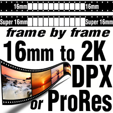 Super 16mm Movie Film to 2K DPX File Sequence or ProRes HQ HDR Scanning Transfer