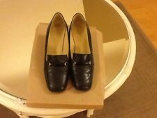 ladies black Leather shoes size 5
