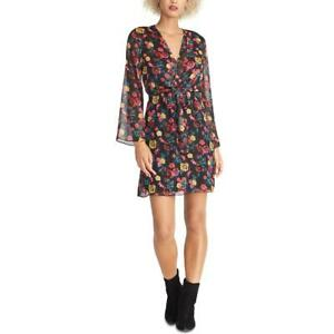 Rachel Rachel Roy Womens Emma Black Floral Tie Front Party Dress S BHFO 8453