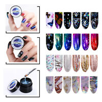 LEMOOC 5ml Stamping Gel Polish Clear Nail Foils Transfer Sticker Design Tools