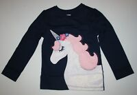 New Gymboree Glitter Unicorn Girls 3T 4T 5T NWT Long Sleeve Unicorn University
