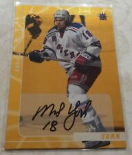 2000-01 BAP Signature Series GOLD New York Rangers Mike York Card #53