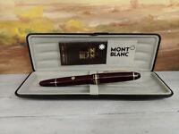 MONTBLANC Meisterstuck Burgundy Red F 14K Gold Nib LeGrand Fountain Pen