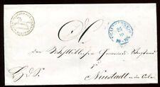 BRAUNSCHWEIG 1860 ca DIESNTBRIEF POLIZEISACHE nach NEUSTADT AN DER ORLA(C0960