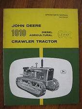 John Deere 1010 Diesel Agricultural Crawler Tractor operators manual ORIGINAL