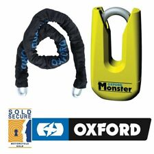 OXFORD SECURITY MONSTER CHAIN 1.5Mtr AND DISC LOCK MOTORBIKE MOTORBIKE SP802