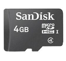 4GB microSD 4G microSDHC micro SD SDHC flash card most are SanDisk