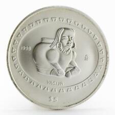 Mexico 5 pesos Teotihuacan Vasija silver coin 1998