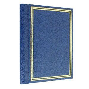 6x4 Slim Blue Pocket Photo Album Slip In Design Holds 26