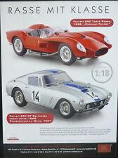 CMC pagina promozionale. FERRARI 250 GT e 250 testa rossa, in 1-18... GIORNALE visualizzazione