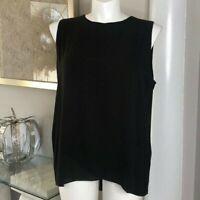 Chico's Black Sleeveless Dress Tunic, Size 3