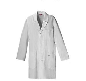 "Dickies EDS 83404 37"" Unisex Lab Coat Medical Uniforms Scrubs"