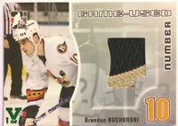 2005-06 ITG Heroes & Prospects Game-Used Number Brandon Bochenski Vault 1/1