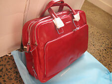 Piquadro Blue Square Red Briefcase/office Bag Expandable Ca1429b2/r