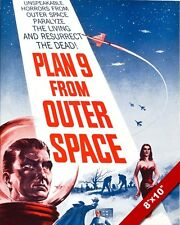 PLAN 9 FROM OUTER SPACE MOVIE POSTER CANVAS GICLEE 8X10 ART PRINT