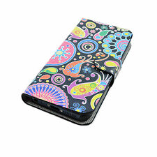 Fashion PU Leather Flip Cover Case Stand Pouch Skin For Apple iPhone SE 5 5S 5G