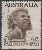 Australia  1965  2/6d  Aborigine white paper  SG 253ba  good used
