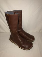 CAMPER Cognac Brown Leather Boots Women's Size 40 Gum Sole