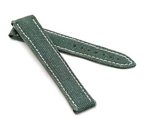 BOB Marino Canvas Deployment Strap for Omega, 20-22 mm, 3 colors, new!