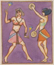 Tänzerin ägyptisch erotik exotisch 1930 von A. Berger Hamburg signiert Gemälde
