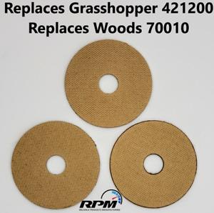GRASSHOPPER MOWER 421200 WOODS 70010 REPLACEMENT FIBER BLADE WASHERS 3 PIECES