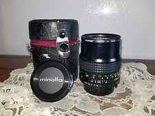 Vintage Minolta MD Tele Rokkor Lens 100mm f/2.5 Made in Japan EUC w/Case
