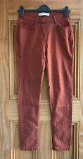 NEXT New Brown Rust Soft Touch Skinny Jeans Trousers Size 10