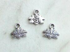 6 x Kleine Lilie Anhänger für Ketten ♥ Pfadfinder Wappen ♥ Deko Charms Silber