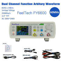 FeelTech FY6600 60MHz Dual Channel DDS Function Signal Generator Frequency Meter