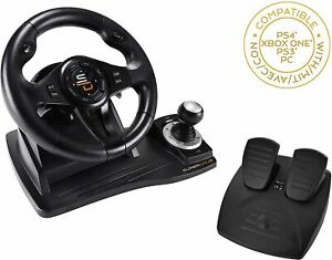 Subsonic GS500 Gaming Steering Wheel with Pedals & Shifter, PS4, Xbox, PS3, PC