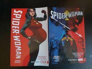 Job Lot / Bundle / Collection Marvel Graphic Novel Spider Woman Vol 1 & 2 (2015)