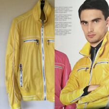 Dolce & Gabbana Men's Lightweight Yellow Bomber Jacket Medium Slim Fit