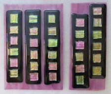 "2 Piece 10"" Hand-Made Dichroic Fused Glass Wall Art"