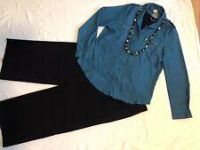 Women's 4 Pc Outfit: Nwt (L) Bls & Top; 14 Pants. Nwot Necklace.