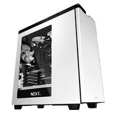 NZXT H440 GLOSS WHITE ATX WATER COOLING READY PC CASE WITH SIDE WINDOW & FANS