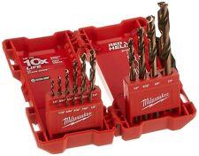 NEW MILWAUKEE 48-89-2331 15 PIECE COBALT RED HELIX STEEL DRILL BIT SET CASE