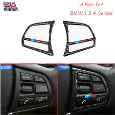 2Pcs Carbon Fiber Steering Wheel Interior Accessories Strip For BMW 1 3 4 Series