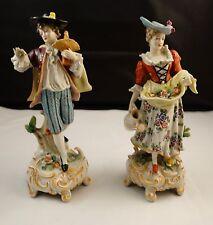 Lovely dresden sitzendorf lady + gentleman porcelain figurines figure SALE!!!