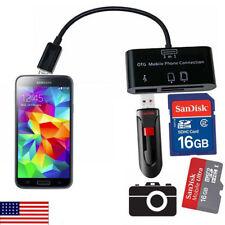 Micro USB OTG Hub SD Card Reader Adapter Phone Tablet Samsung Galaxy S3/S4/Tab
